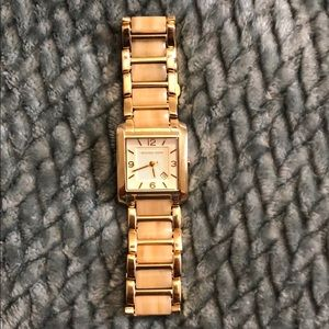 Michael Kors Gold and Light Tortoise Watch